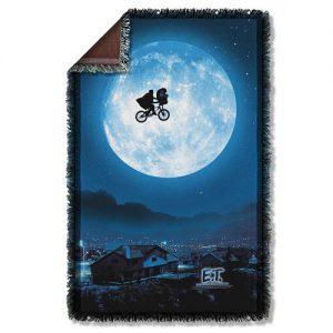 E.T. Moon Woven Tapestry Blanket