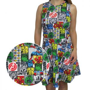 The Avengers Comic Pop Women's Tank Dress