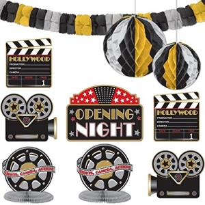 Amscan-Hollywood-Movie-Themed-Party-Decorating-Kit-10-Piece-Black-Gold-Silver Amscan-Hollywood-Movie-Themed-Party-Decorating-Kit-10-Piece-Black-Gold-Silver Have one to sell? Sell now Amscan Hollywood Movie Themed Party Decorating Kit (10 Piece), Black/Gold/Silver